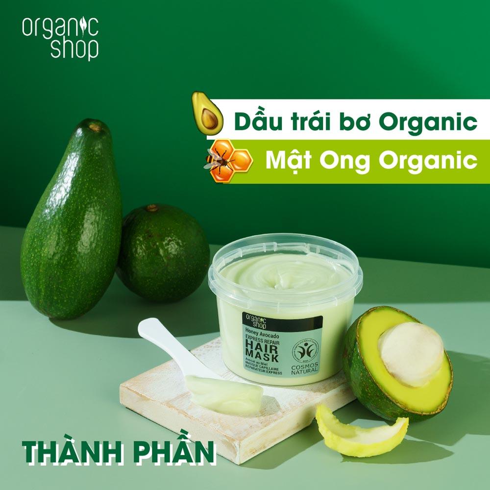 Kem Ủ Tóc Organic Shop Chuyên Sâu Từ Bơ Và Mật Ong 250ml