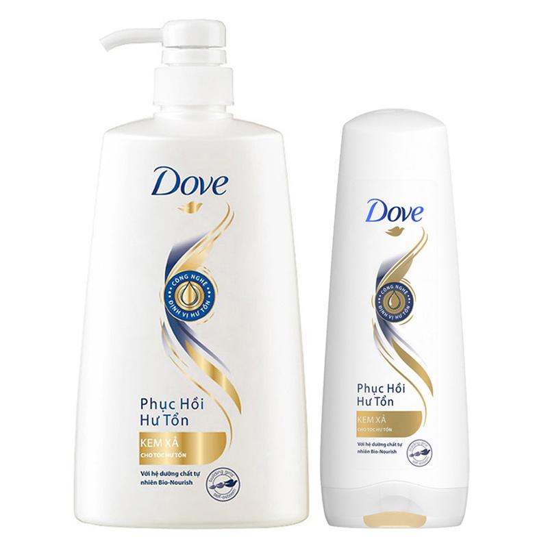 Kem Xả Dove Phục Hồi Hư Tổn Cho Tóc Chắc Khỏe