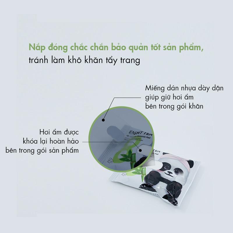 B.O.M Eight Tea Lips & Eyes Makeup Remover Pad 30 Miếng