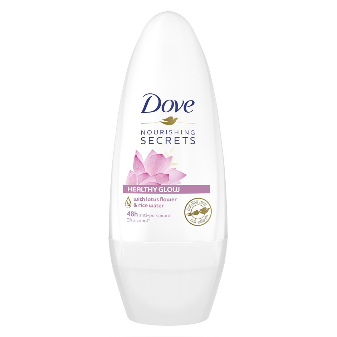 Lăn Khử Mùi Cho Nữ Dove Từ Hoa Sen & Nước Gạo 40ml