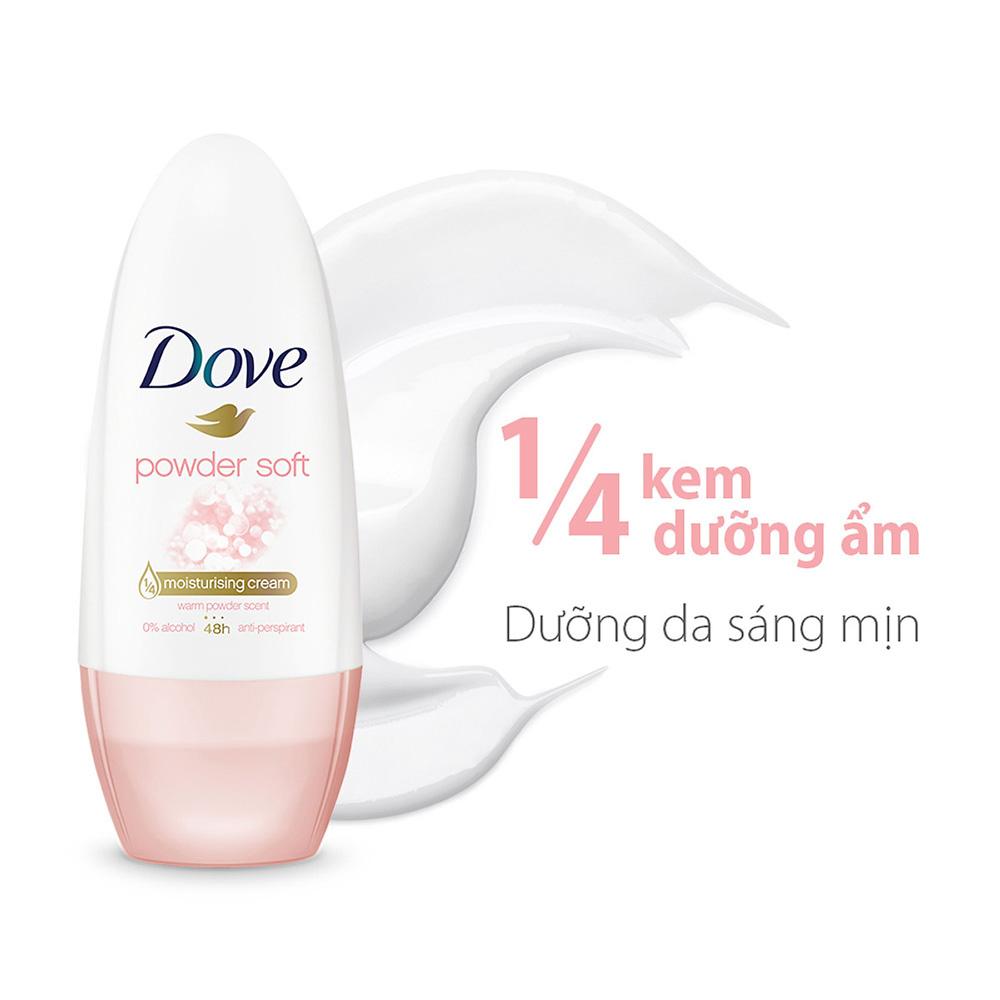 Lăn Khử Mùi Dove Powder Soft Hương Phấn Thơm 40ml