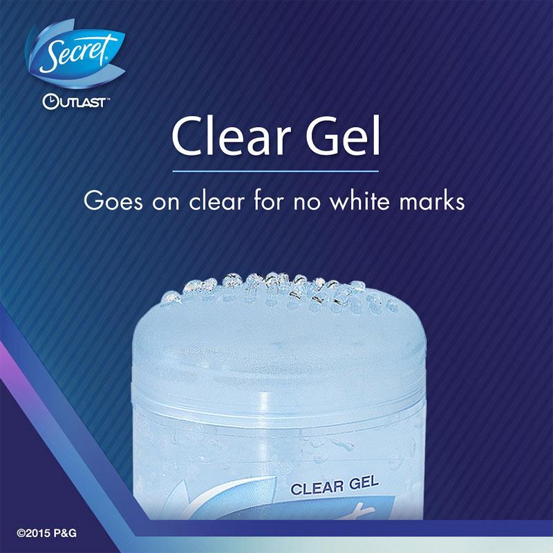 Texture Lăn Khử Mùi Secret Dạng Gel Không Mùi Clear Gel Outlast Xtend – Unscented 73g