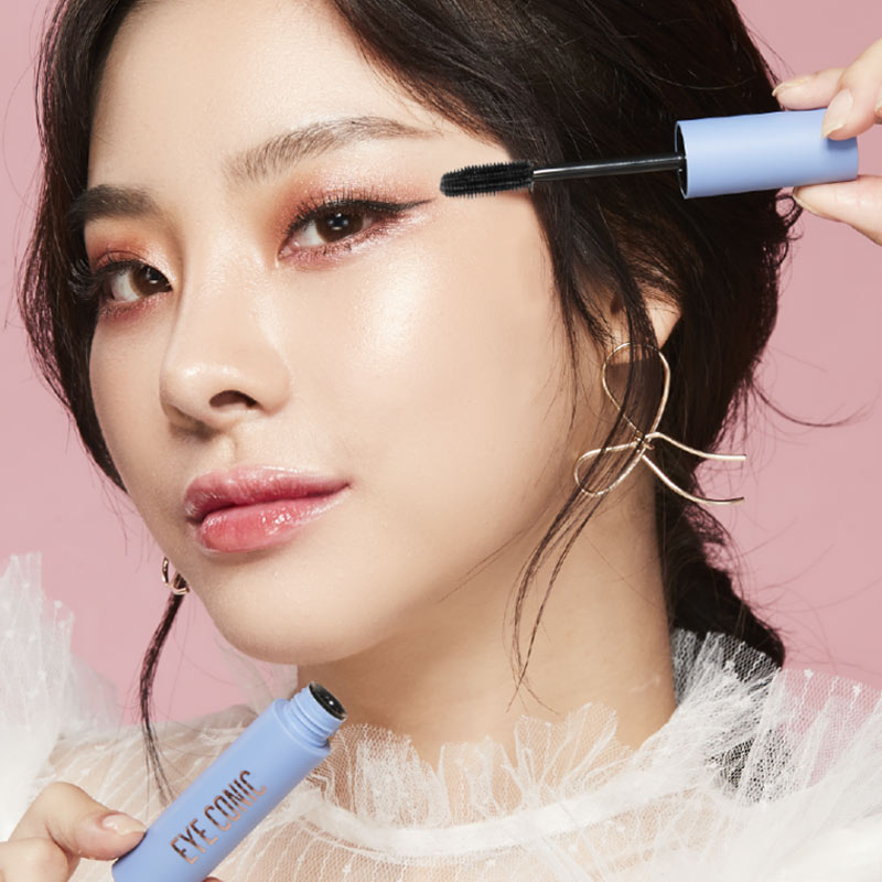 Mascara Cathy Doll Eye Conic Làm Dày Mi Màu Đen Eye Conic Mascara - Styling Volume 9g