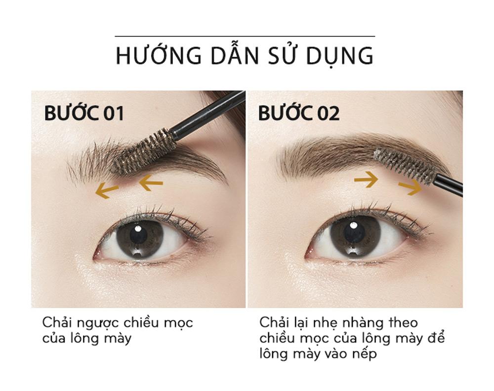HDSD Mascara Chân Mày Missha Color Wear Browcara 7.5g