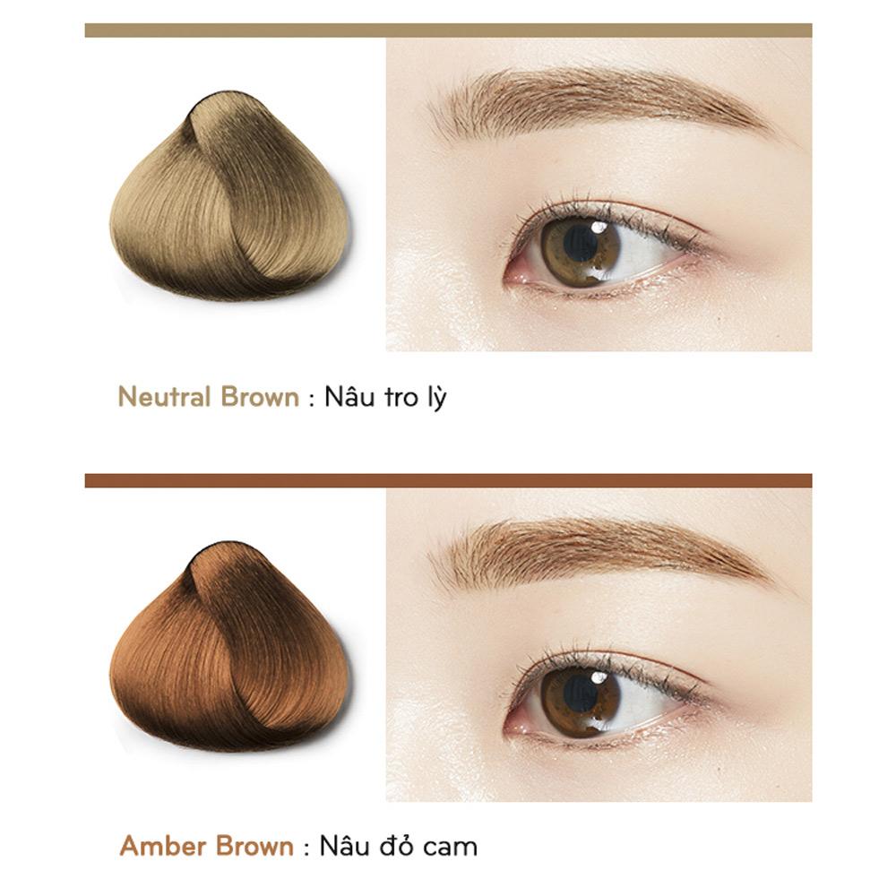 Bảng màu Mascara Chân Mày Missha Color Wear Browcara 7.5g
