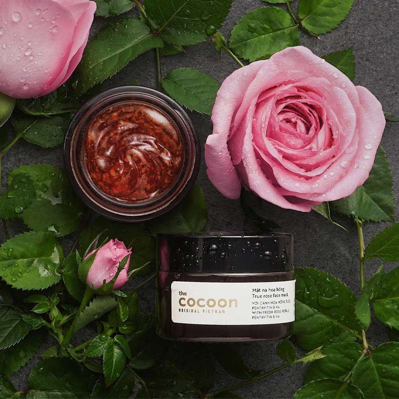 Mặt Nạ Cocoon Dưỡng Ẩm Da Chiết Xuất Hoa Hồng True Rose Face Mask 30ml