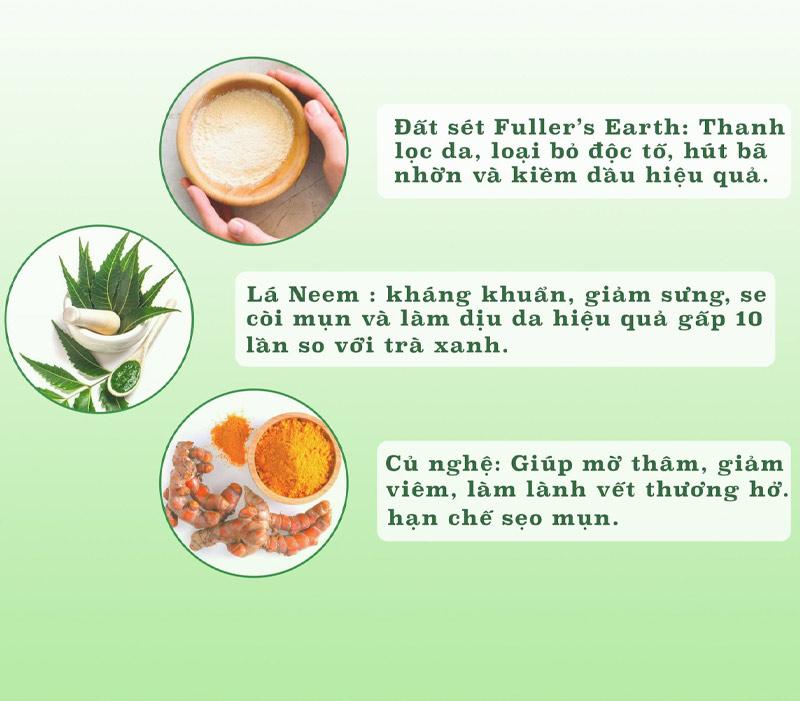 Công dụng Mặt Nạ Đất Sét Himalaya Herbals