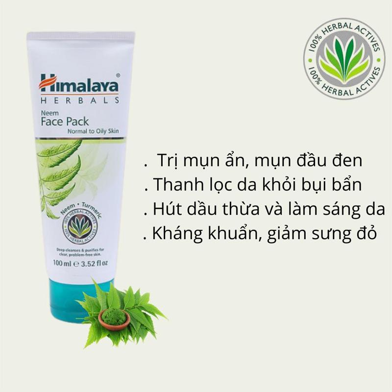 Mặt Nạ Đất Sét Himalaya Herbals Làm Giảm Mụn, Bã Nhờn
