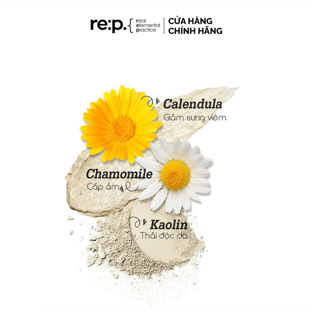 Thành phần Mặt Nạ Đất Sét Re:p Hoa Cúc Giảm Sưng Viêm Cho Da Nhạy Cảm 130g