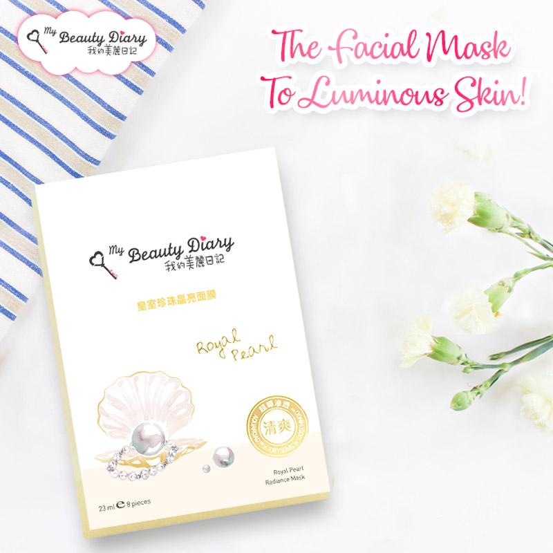Mặt Nạ My Beauty Diary Ngọc Trai Dưỡng Ẩm & Sáng Mịn Royal Pearl Radiance Mask 23ml