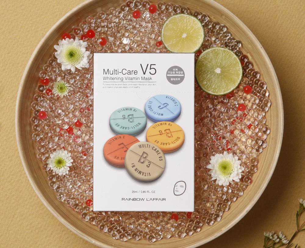Mặt Nạ Vitamin Làm Sáng Da Rainbow L'affair Multi-Care Whitening Vitamin Mask Mask