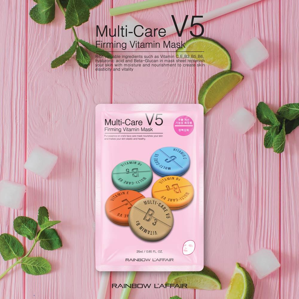 Mặt Nạ Dưỡng Ẩm, Chống Lão Hóa Da Rainbow L'affair Multi-Care Firming Vitamin Mask