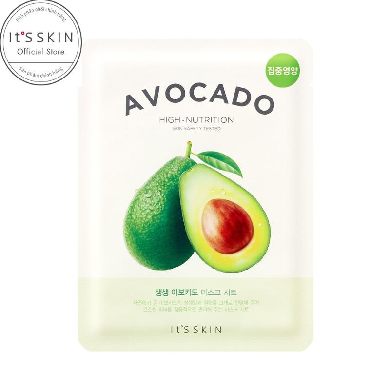 Mặt Nạ It'S Skin Quả Bơ Nuôi Dưỡng & Dưỡng Ẩm Cao The Fresh Mask Sheet Avocado