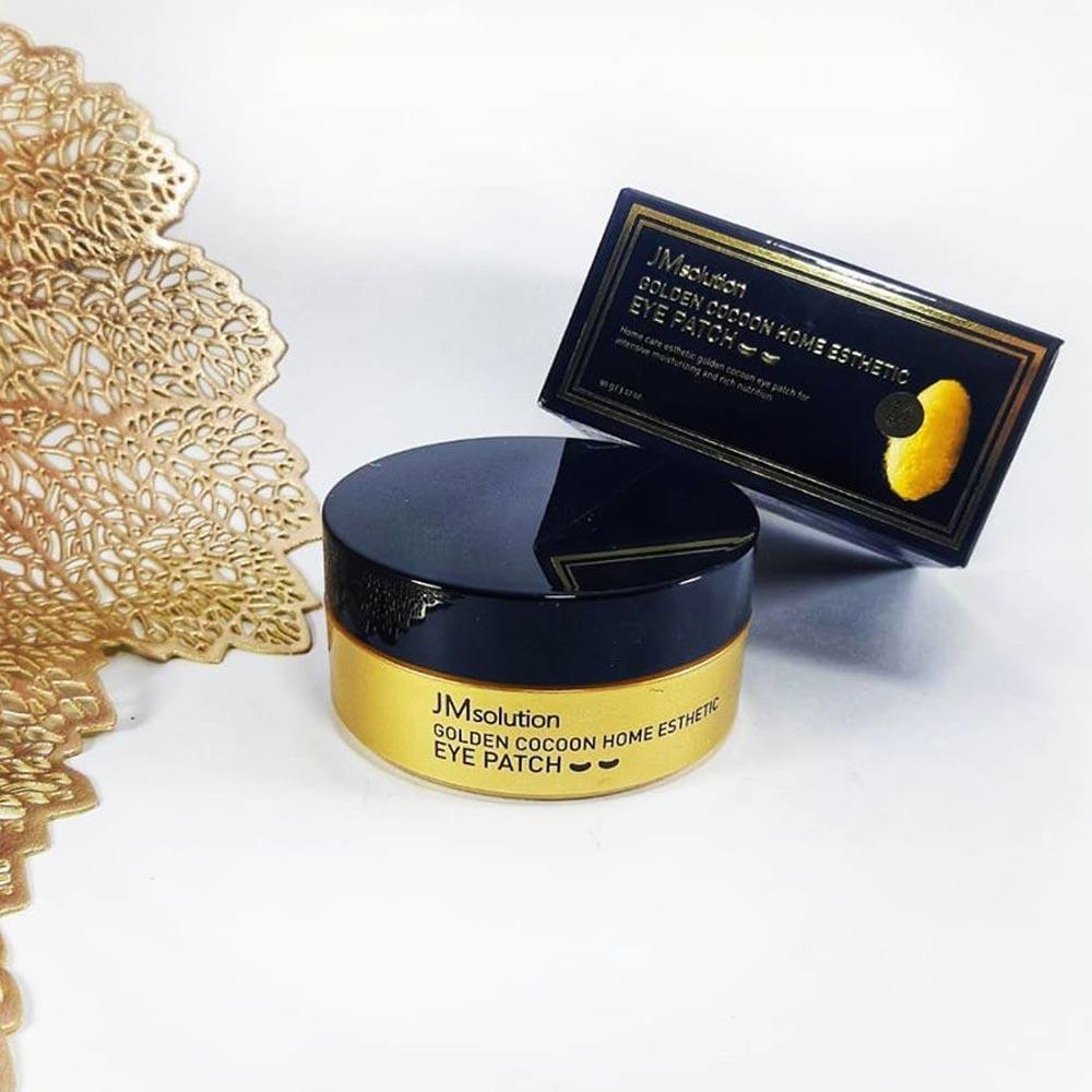 Mặt Nạ Mắt JmSolution Ngừa Lão Hóa Tằm Lụa Vàng Golden Cocoon Home Esthetic Eye Patch