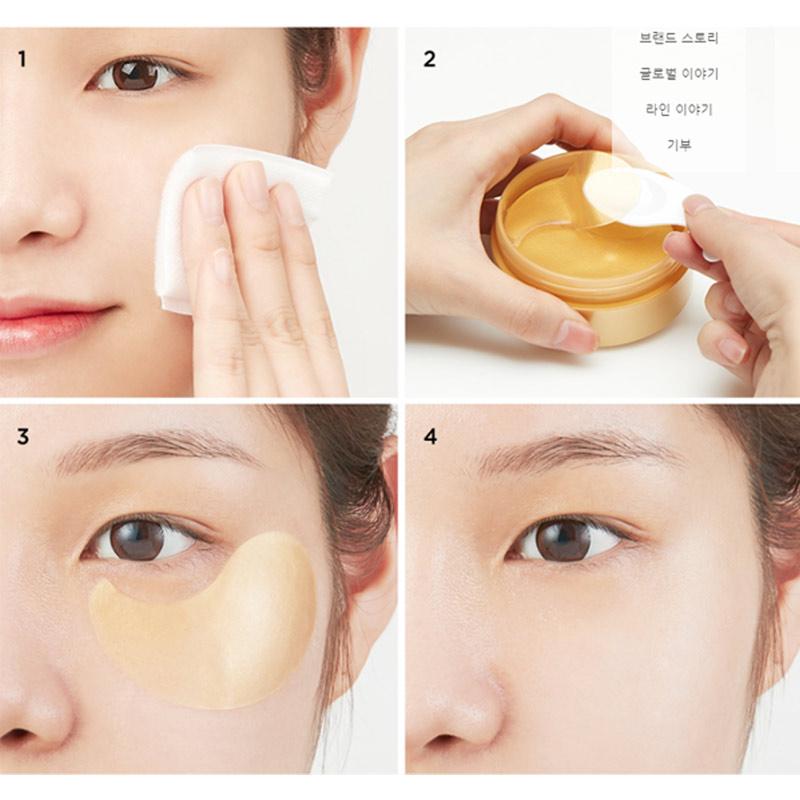 Mặt Nạ Mắt JmSolution Ngừa Lão Hóa Tằm Lụa Vàng 60 Miếng Golden Cocoon Home Esthetic Eye Patch