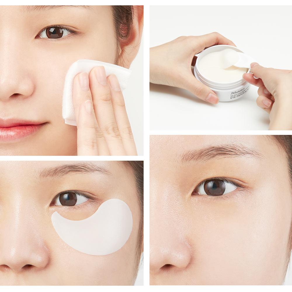 Mặt Nạ Mắt JmSolution Giảm Quầng Thâm Kén Tằm Lụa 60 Miếng Silky Cocoon Home Esthetic Eye Patch