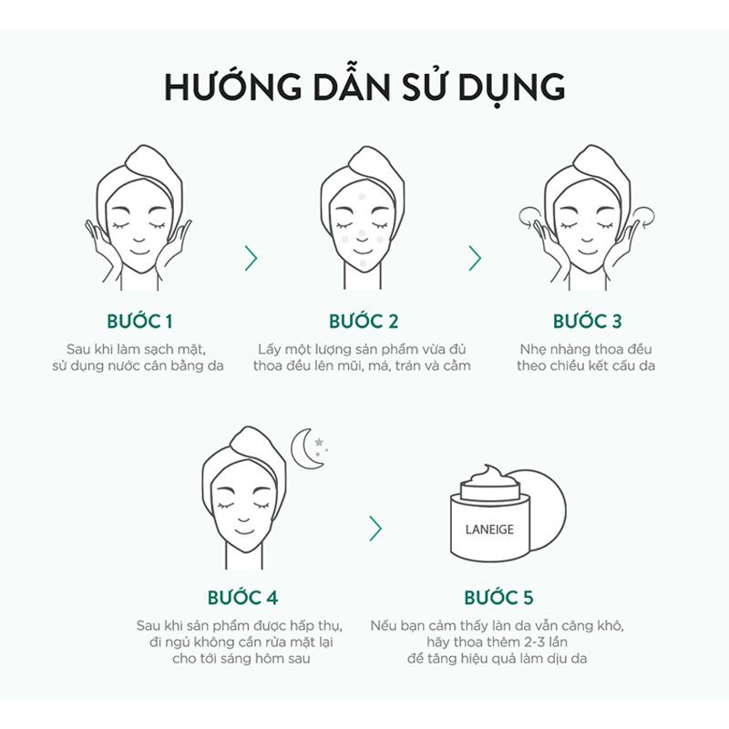 HDSD Mặt Nạ Ngủ Laneige Giúp Phục Hồi & Tăng Cường Hàng Rào Bảo Vệ Da 60ml