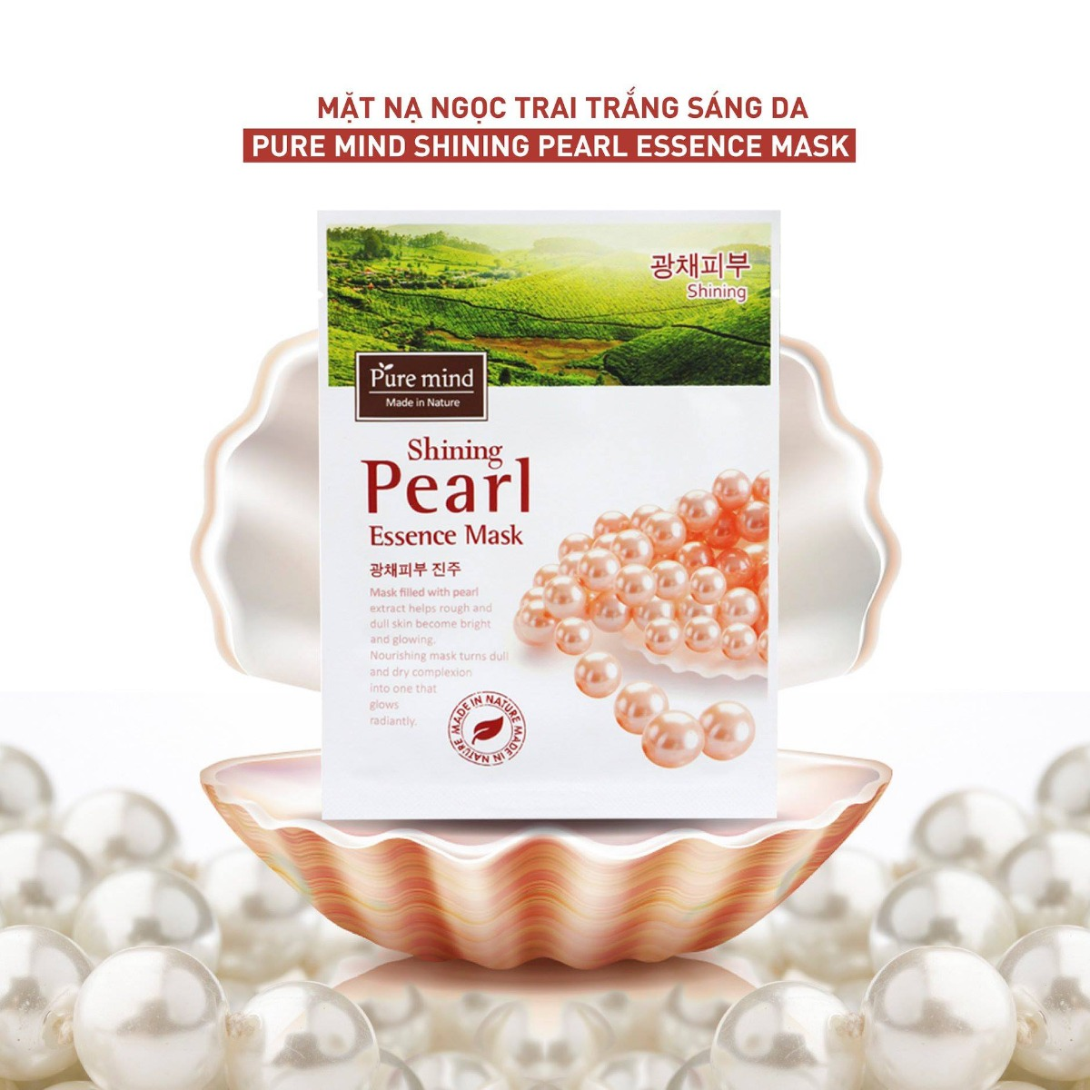 Mặt Nạ Pure Mind Chiết Xuất Ngọc Trai - Shining Pearl