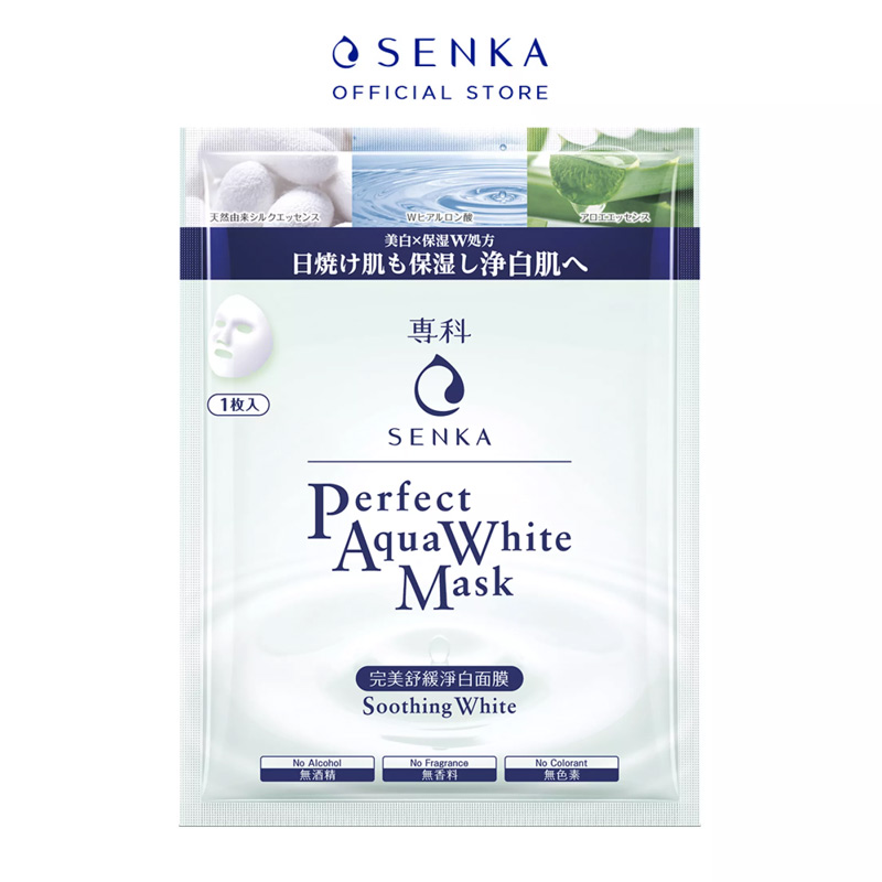 Mặt Nạ Senka Perfect Aqua White Mask Soothing White 25ml