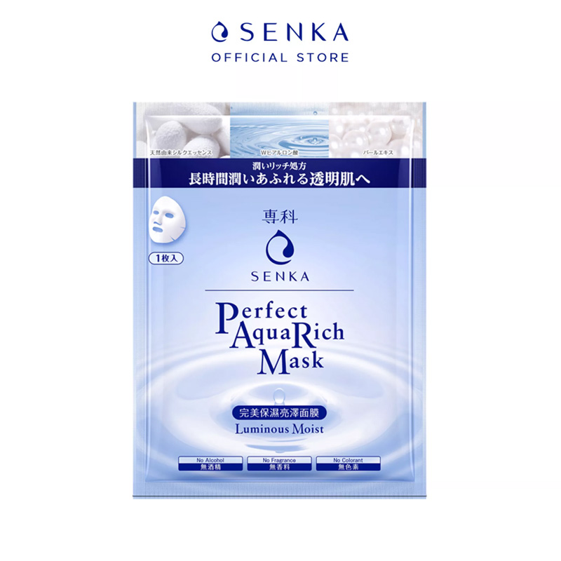 Mặt Nạ Senka Perfect Aqua Rich Luminous Moist Mask 25ml