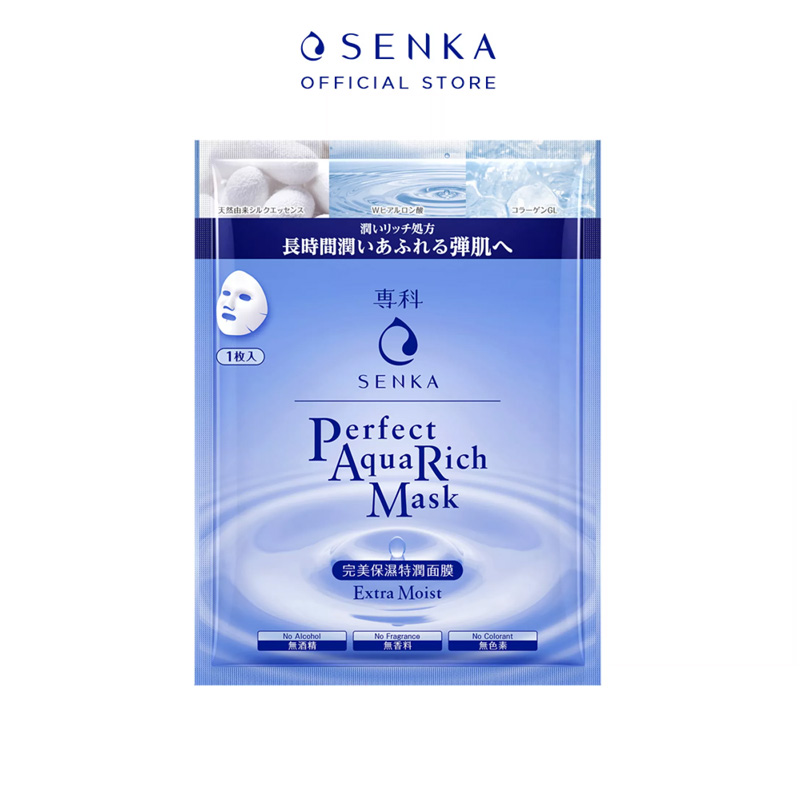 Mặt Nạ Senka Perfect Aqua Rich Extra Moist Mask 25ml