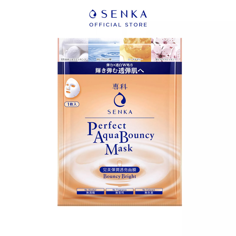 Mặt Nạ Senka Perfect Aqua Bouncy Mask Bouncy & Bright 25ml
