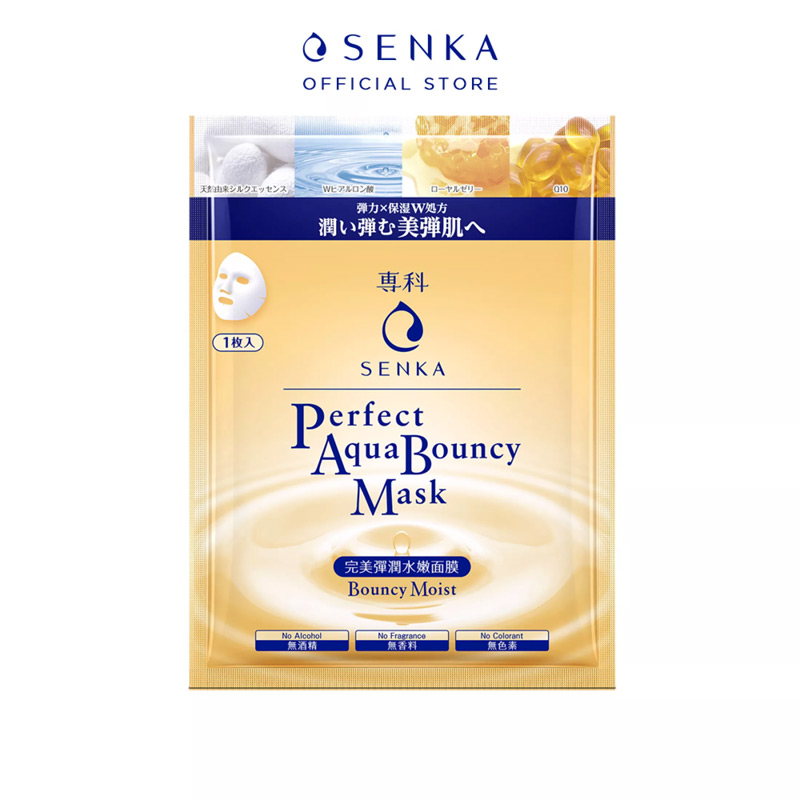 Mặt Nạ Senka Perfect Aqua Bouncy Mask Bouncy & Moist 25ml