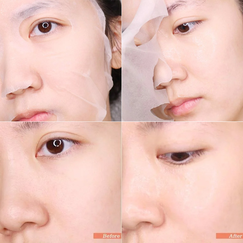 Some By Mi Yuja Niacin Blemish Care Serum Mask texture