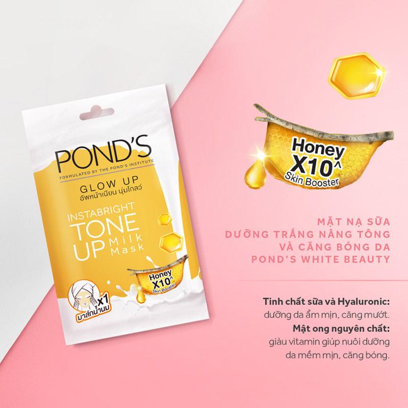 Mặt Nạ Sữa Pond's Dưỡng Sáng Nâng Tông & Căng Bóng Da 25g