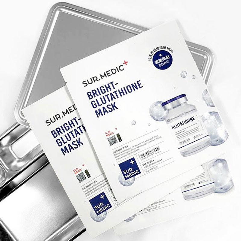 Mặt Nạ Sur.Medic+ Tinh Chất Glutathione Làm Sáng Da Bright Glutathione Mask 30g