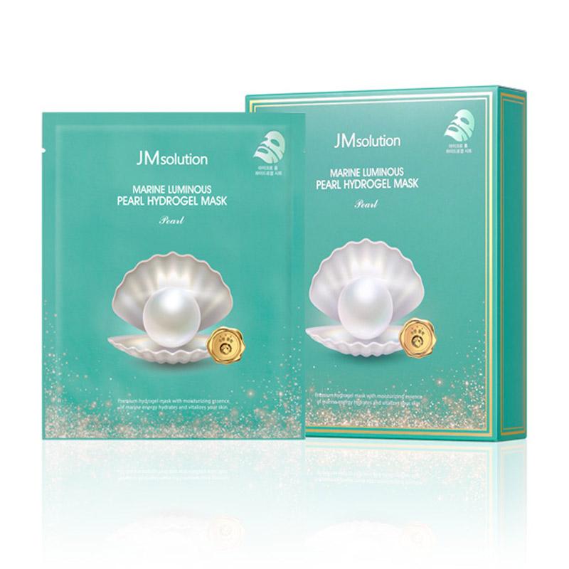 Mặt Nạ Thạch JMSolution Ngừa Lão Hóa Blue Gloss Marine Pearl Hydrogel Mask Pearl