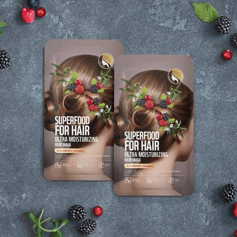 Mặt Nạ Tóc Farmskin Trái Mâm Xôi Dưỡng Tóc Bóng Mượt Superfood For Hair Ultra Nourishing Hair Mask - Blackberry Complex 40g