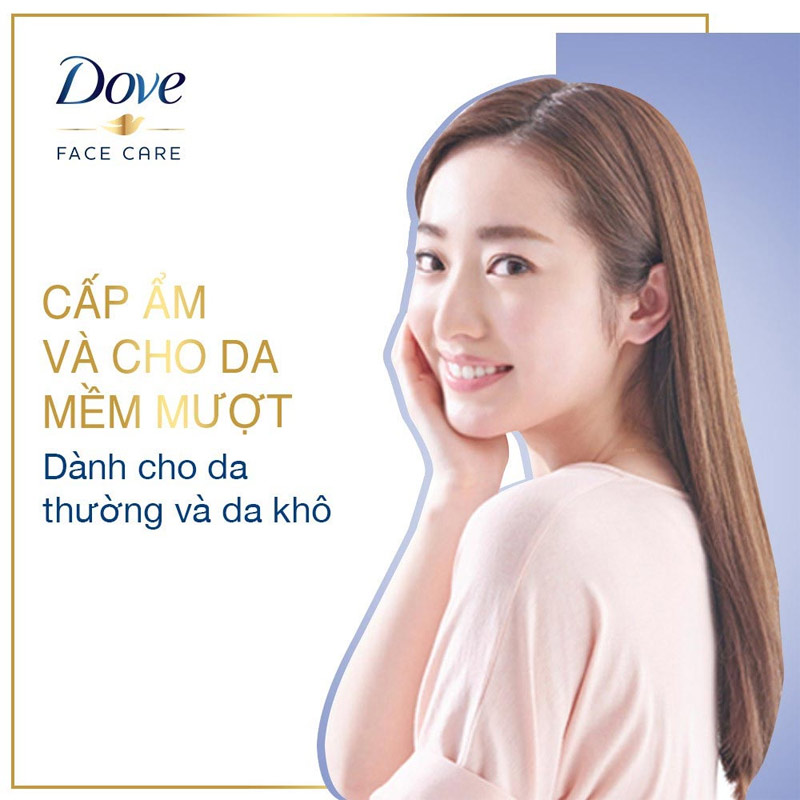 Dove Beauty Serum 3-In-1 Cleansing Mousse Removes Makeup, Cleanses Pores & Moisturizes Skin 135ml