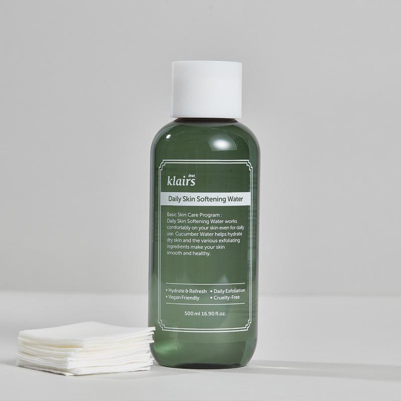 Nước Cân Bằng Klairs Tẩy Tế Bào Chết Làm Mềm Da Daily Skin Softening Water 500ml