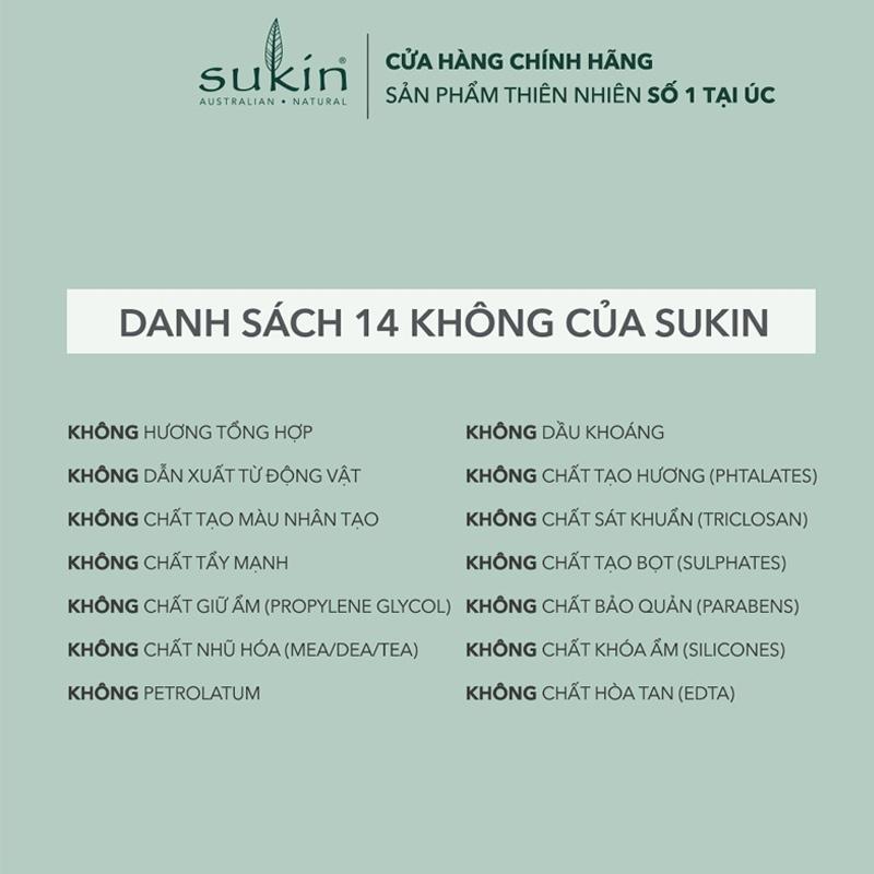 Độ an toàn Nước Cân Bằng Sukin Original Dạng Phun Sương Original Hydrating Mist Toner 125ml