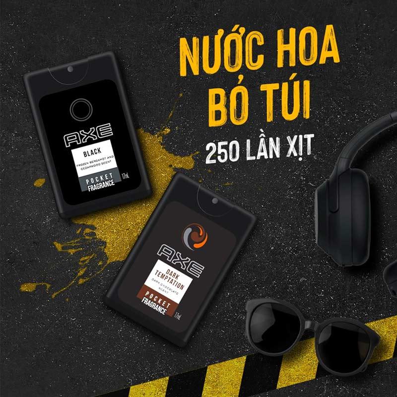 Nước Hoa Bỏ Túi Axe Pocket Fragrance Hương Black Pocket Fragrance 17ml
