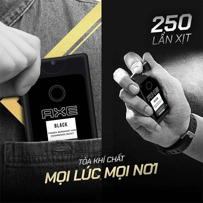 Nước Hoa Bỏ Túi Axe Pocket Fragrance Hương Black Pocket Fragrance