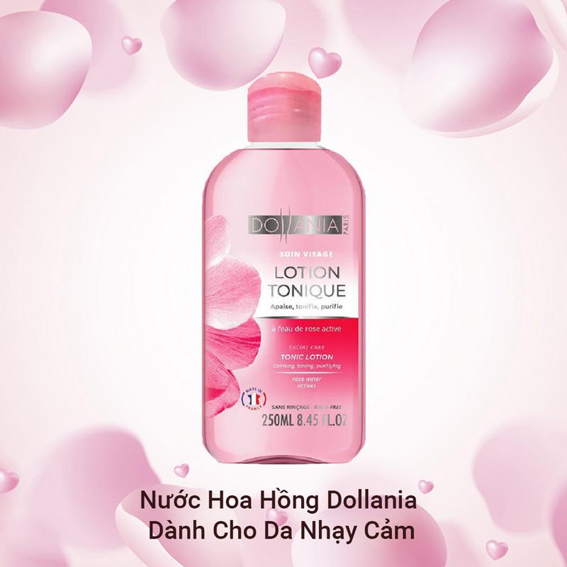 Nước Hoa Hồng Dollania Dành Cho Da Nhạy Cảm Soin Visage Lotion Tonique