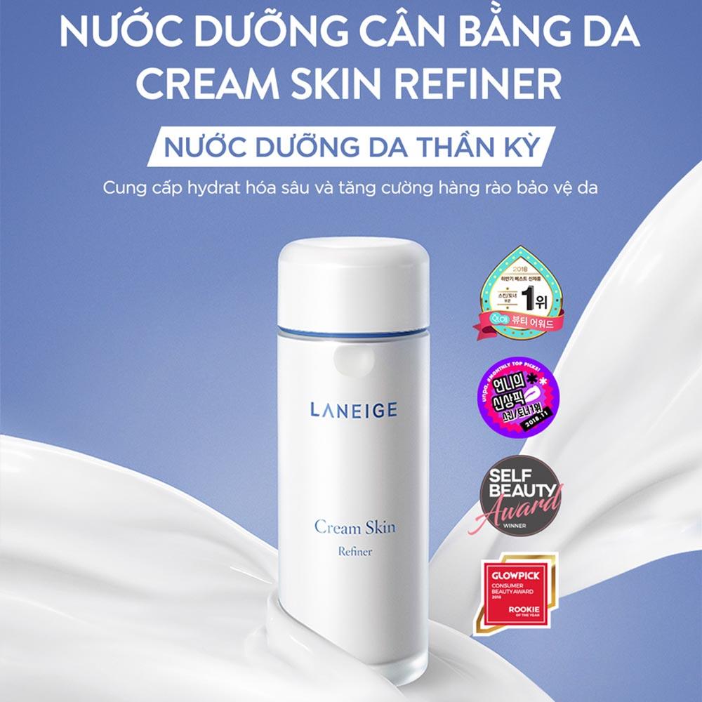 Nước Hoa Hồng Laneige Dưỡng Ẩm Da Cream Skin Refiner 150ml