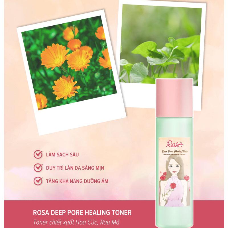 Nước Hoa Hồng SeoulRose Làm Sạch Sâu & Dịu Da Rosa Deep Pore Healing Toner 120ml