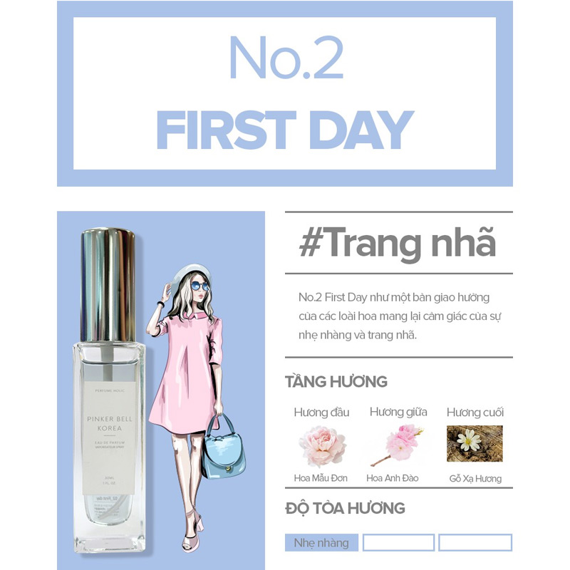 Nước Hoa Pinker Bell 02 First Day EDP 30ml Hasaki