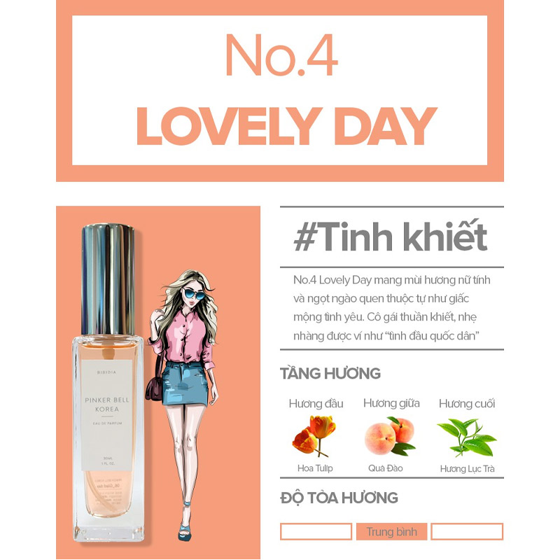 Nước Hoa Pinker Bell 04 Lovey Day EDP 30ml