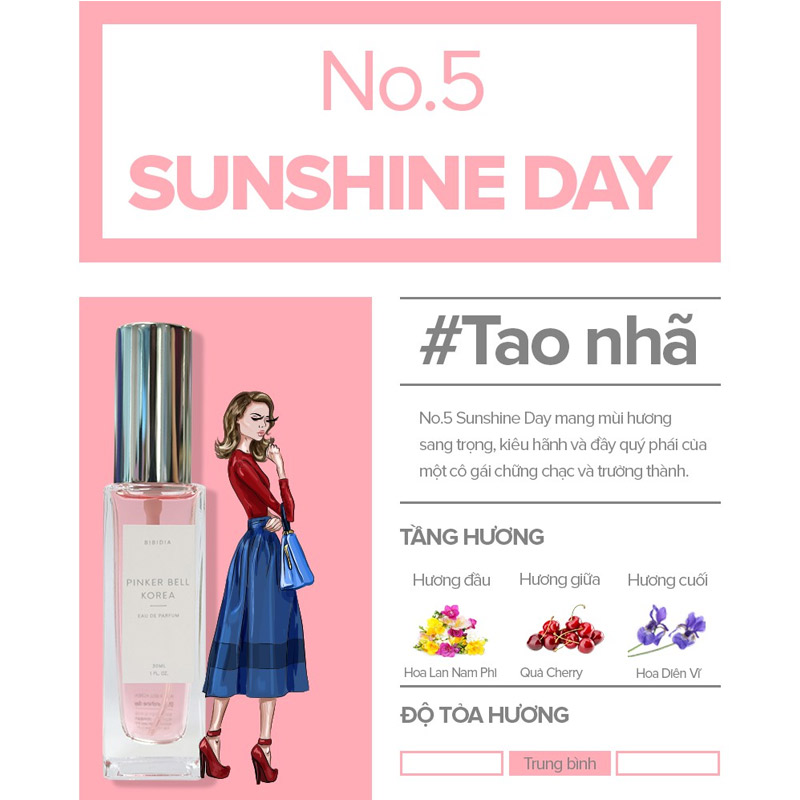 Nước Hoa Pinker Bell 05 Sunshine Day EDP 30ml Hasaki
