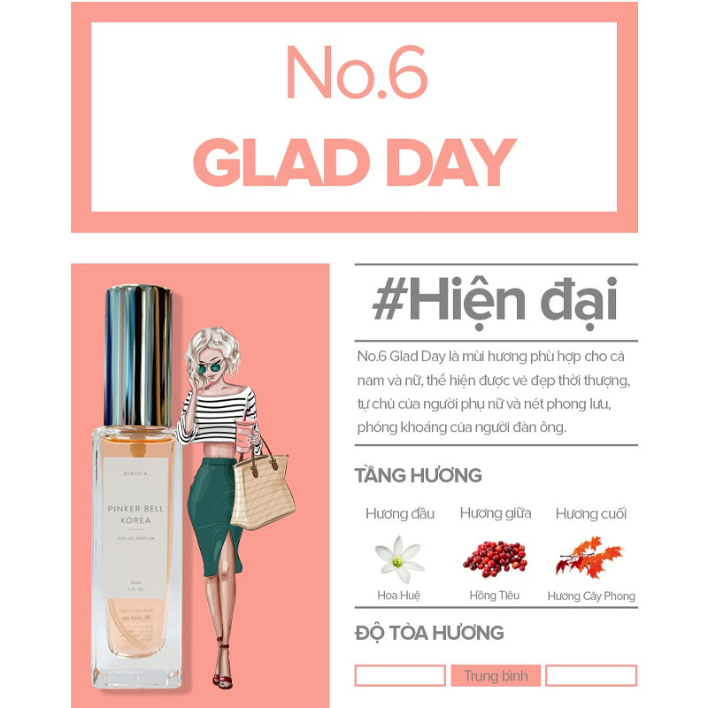 Nước Hoa Pinker Bell 06 Glad Day EDP 30ml