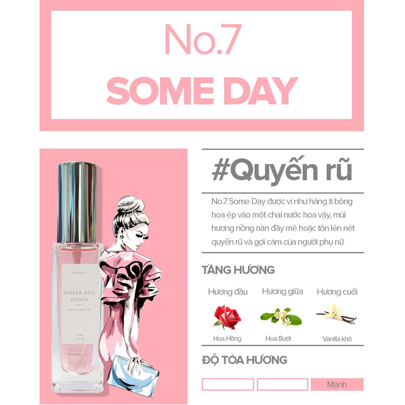 Nước Hoa Pinker Bell 07 Some Day EDP 30ml