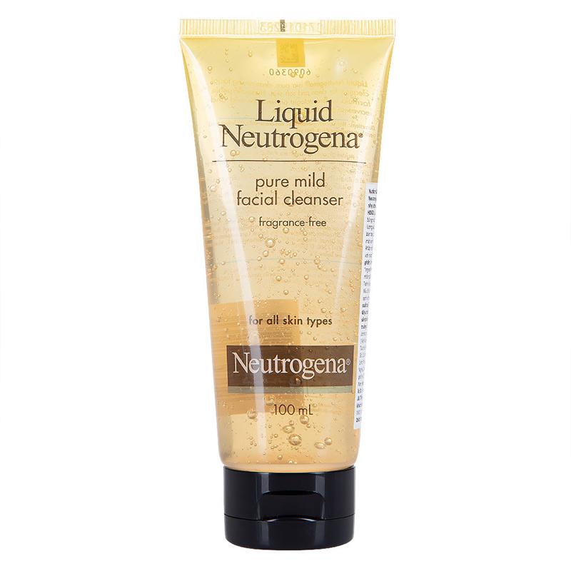 Nước Rửa Mặt Neutrogena Dịu Nhẹ Dành Cho Mọi Loại Da Liquid Pure Mind Facial Cleaner 100ml