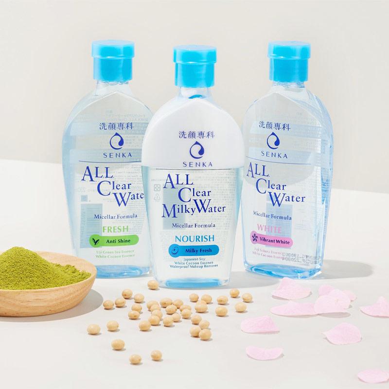 Nước Sữa Tẩy Trang Senka All Clear Milky Water Nourish 230ml