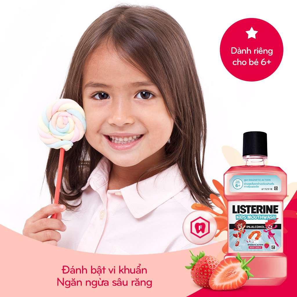 Mua Nước Súc Miệng Listerine Kids Cho Trẻ Trên 6 Tuổi 250ml tại Hasaki