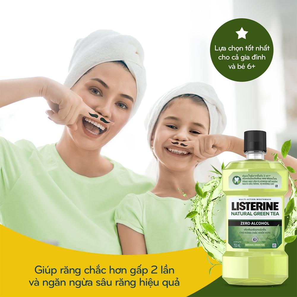 Nước Súc Miệng Listerine Trà Xanh Ngừa Sâu Răng Hasaki