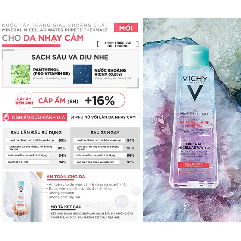 Vichy Pureté Thermale Mineral Micellar Water For Sensitive Skin